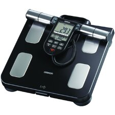 Full-Body Sensor Composition Monitor and Scale in Black