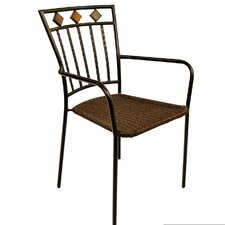 Malaga Stacking Dining Arm Chair (Set of 2)