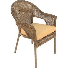 Bavaria Stacking Dining Arm Chair with Cushion