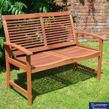 2-Sitzer Gartenbank Tornio aus Massivholz