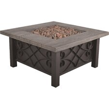 Marbella Stainless Steel Gas Fire Pit Table