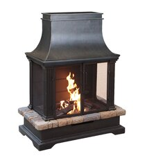 Sevilla Steel and Slate Outdoor Fireplace