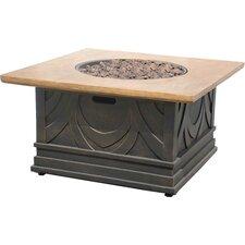 Avila Metal/Marble Gas Fire Table