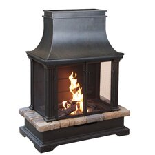 Sevilla Steel Wood Outdoor Fireplace