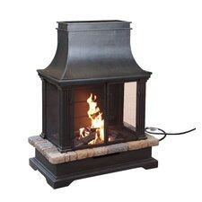 Sevilla Steel / Slate Gas Outdoor Fireplace