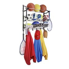 Sports Rack with Adjustable Hooks