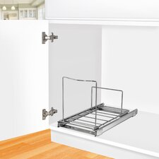 Lynk Professional Roll Out Bin Holder - Pull Out Under Cabinet Sliding Organizer - 10.1 inch wide x 20.02 inch deep - Chrome
