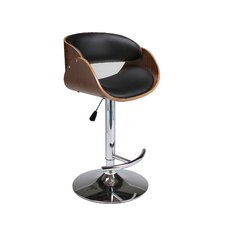 Kaffina Adjustable Height Swivel Bar Stool with Cushion