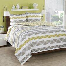 Orgami Stripe Comforter Set