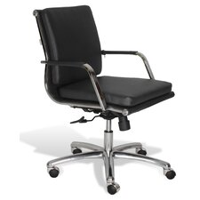 Berg Low Back Leather Conference Chair
