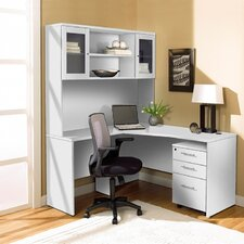 Corner Desk with Hutch and Mobile