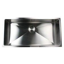 "36"" x 18"" Small Radius Stainless Steel Kitchen Sink"