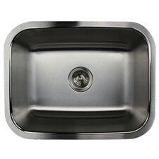 "23.19"" x 17.94"" Single Bowl Stainless Steel Kitchen Sink"