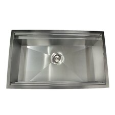 "Pro Series 30"" x 18"" Zero-radius Undermount Prep-Station Kitchen Sink"
