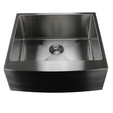 "Pro Series 24"" x 22.5"" Single Bowl Farmhouse Apron Front Stainless Steel Kitchen Sink"