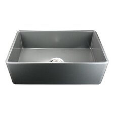 "Cape 30.25"" x 18"" Fireclay Farmhouse Kitchen Sink"