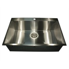 "Pro Series 33"" L x 22"" W Rectangle Single Hole Topmount Stainless Steel Kitchen Sink"