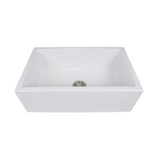 "Hyannis 30"" x 18"" Italian Farmhouse Fireclay Sink"