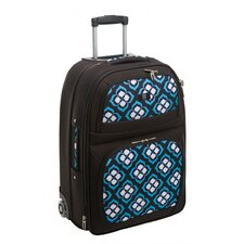 "Chloe Dao 21""  Lotus Trolley Carry-On in Black/White/Blue/Purple"
