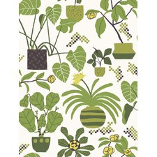 "Volume 4 Ikkunaprinssi 33' x 21"" Floral and Botanical Wallpaper"