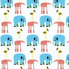 """Marimekko II Karkulaiset 33' x 27.6"""" Elephants Wallpaper"""