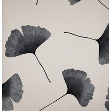 Biloba 33' x 27'' Botanical 3D Embossed Wallpaper