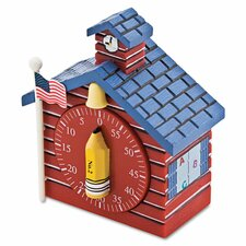 Schoolhouse Timer, 0-60 Minutes, Red
