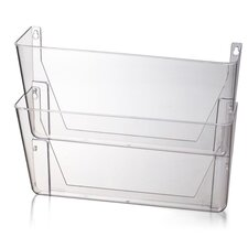 """Wall File, 13""""x4-1/8""""x10-5/8"""", Letter, 2/PK, Clear"""