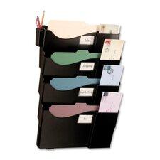 "Starter Filing System,w/4-Pockets,16-5/8""x4-3/4""x23-1/2"",BK"