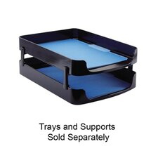 """Front Loading Letter Tray, 10-1/4""""x13-5/8""""x2"""", Black"""