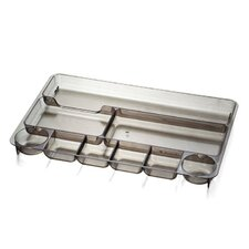 """Drawer Tray, 9 Compartmentss, 14""""x9""""x1-1/8"""", Smoke"""