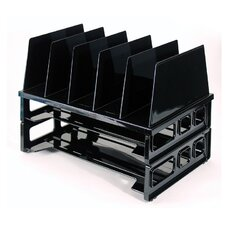 """Tray And Sorter System, 13-1/2""""x9-1/8""""x10-1/4, Black"""