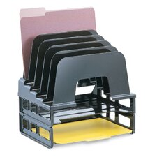 """Incline Sorter With Two Trays, 13-1/2""""x9""""x14-1/2"""", Black"""