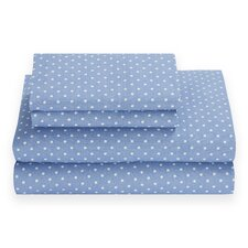 Chambray Dot 180 Thread Count Sheet Set