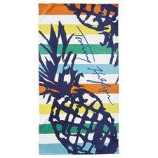 Striped Pineapple Beach Towel