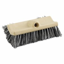 "10"" Polypropylene Dual-Surface Vehicle Brush with Handle"