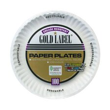 """9"""" Coated Paper Plate in White"""