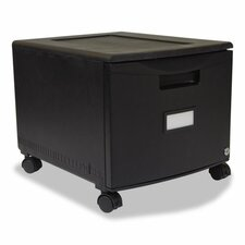 Single Drawer Mini File Cabinet with Lock and Casters Legal/Letter