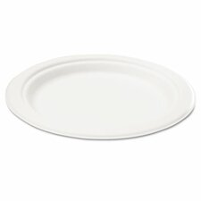 "Naturehouse Bagasse 7"" Plate, 50/Pack"
