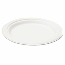"Naturehouse Bagasse 10"" Plate, 50/Pack"