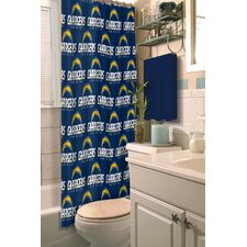 NFL Chargers Shower Curtain