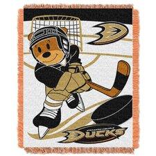 NHL Ducks Baby Woven Throw Blanket