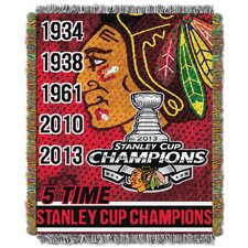 NHL Blackhawks Commemorative Throw Blanket