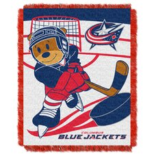 NHL Blue Jackets Baby Woven Throw Blanket