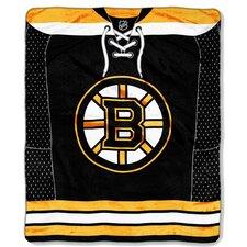 NHL Boston Bruins Puck Super Plush Throw