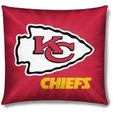 NFL Kansas City Chiefs Cotton Throw Pillow