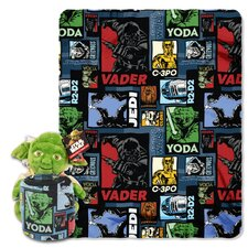 Star Wars Classic Yoda Story 2 Piece Fleece Throw and Hugger Pillow Set