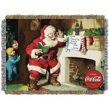 Coca Cola Note To Santa Throw