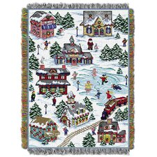 Snowy Village Throw