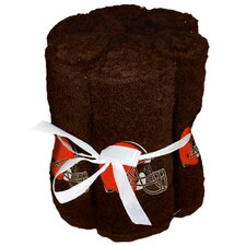 NFL Browns Wash Cloth (Set of 6)